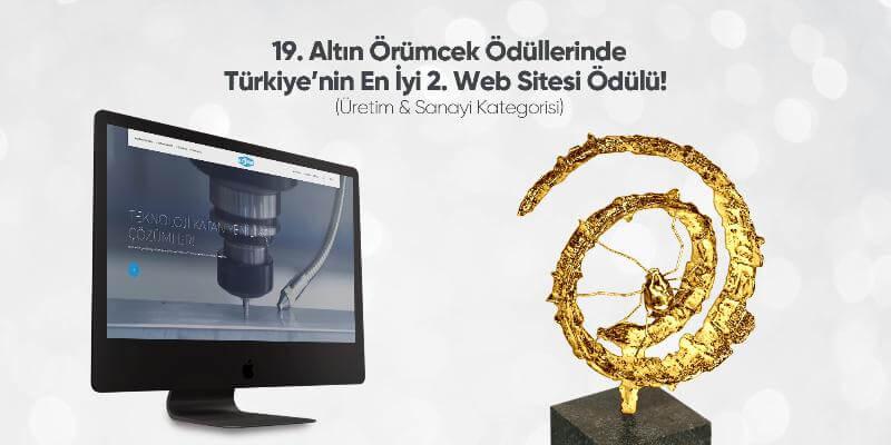 19. Altın Örümcek Ödüllerinde Türkiye'nin En İyi 2. Web Sitesi Ödülü!